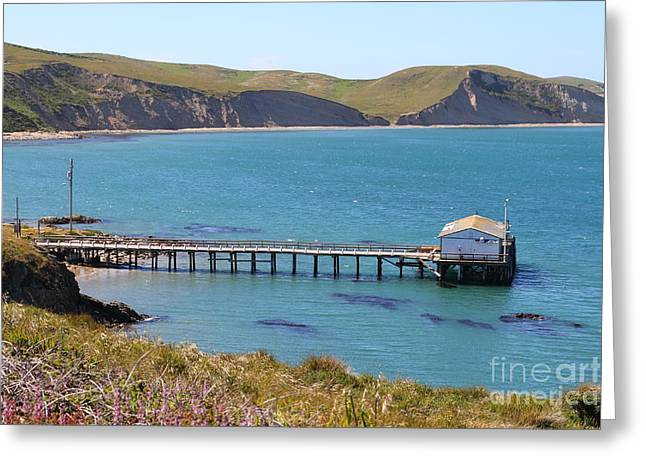 Old Shack Greeting Cards - Dock At Point Reyes Calfornia . 7D16133 Greeting Card by Wingsdomain Art and Photography