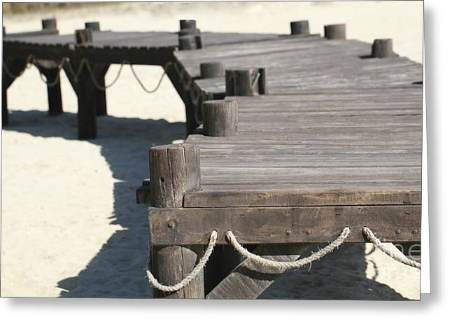 Wooden Dock Greeting Cards - Dock Greeting Card by Cheryl Young