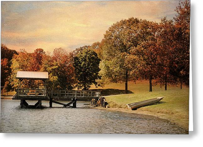 Autumn Scenes Greeting Cards - Dock for Two Greeting Card by Jai Johnson
