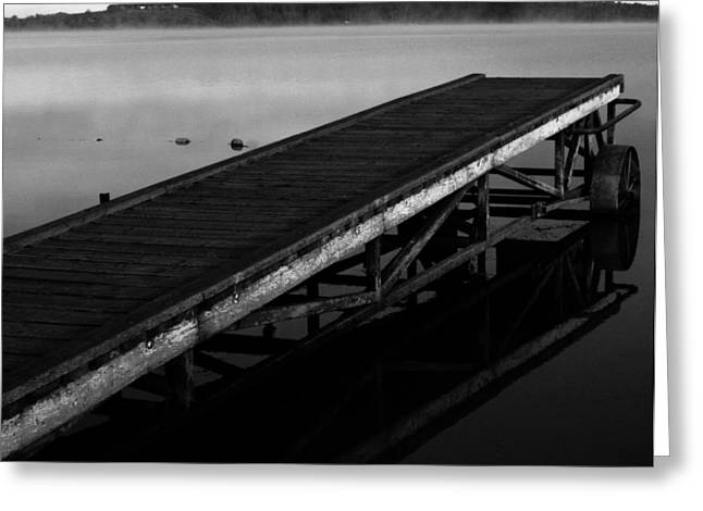 Rural Decay Prints Greeting Cards - Dock Greeting Card by Jerry Cordeiro