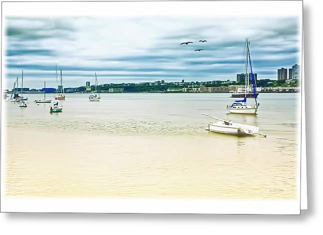Water Scape Greeting Cards - Docked On The Hudson Greeting Card by Tom York Images