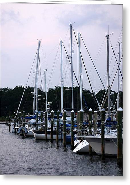 Fishing Boats Greeting Cards - Docked Greeting Card by Paul  Wilford