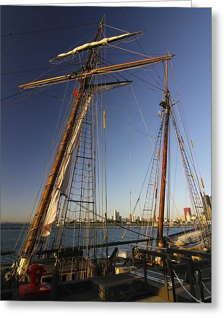 Tall Ships Greeting Cards - Docked Tall ship Greeting Card by Sven Brogren