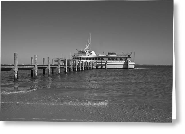 Boat Cruise Greeting Cards - Docking for a Moment Greeting Card by Betsy C Knapp
