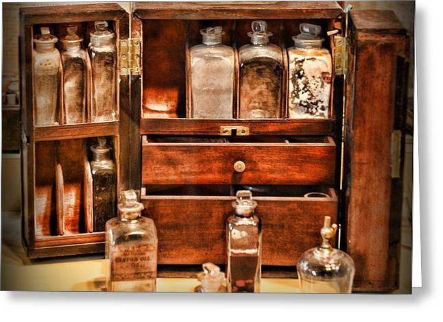 Medication Greeting Cards - Doctor - The Medicine Cabinet Greeting Card by Paul Ward