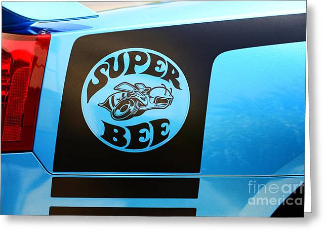 Super Bee Greeting Cards - Dodge Charge Super Bee logo  Greeting Card by Paul Ward