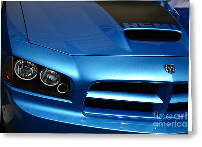 Super Bee Greeting Cards - Dodge Charger SRT8 Super Bee Greeting Card by Paul Ward