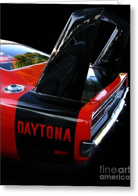 Fat Tire Greeting Cards - Dodge Daytona Fin 02 Greeting Card by Peter Piatt