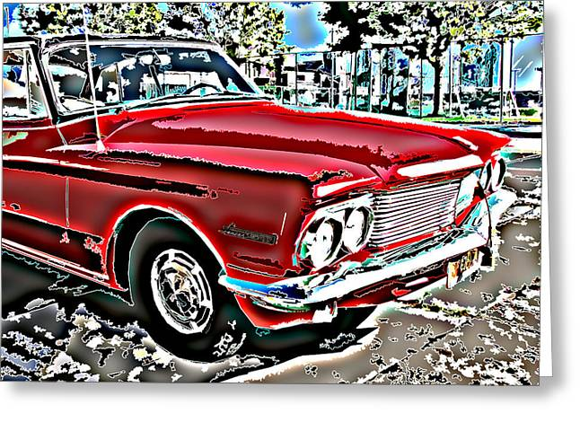 Sheats Greeting Cards - Dodge Lancer Frontal Shot Greeting Card by Samuel Sheats