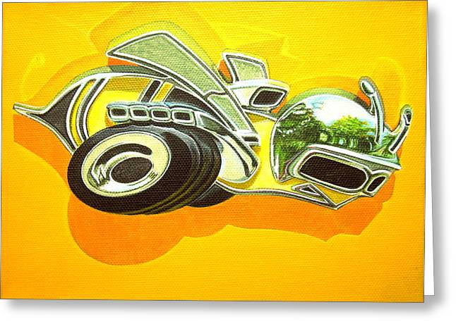 Jeff Taylor Greeting Cards - Dodge Super Bee Badge Greeting Card by Jeff Taylor
