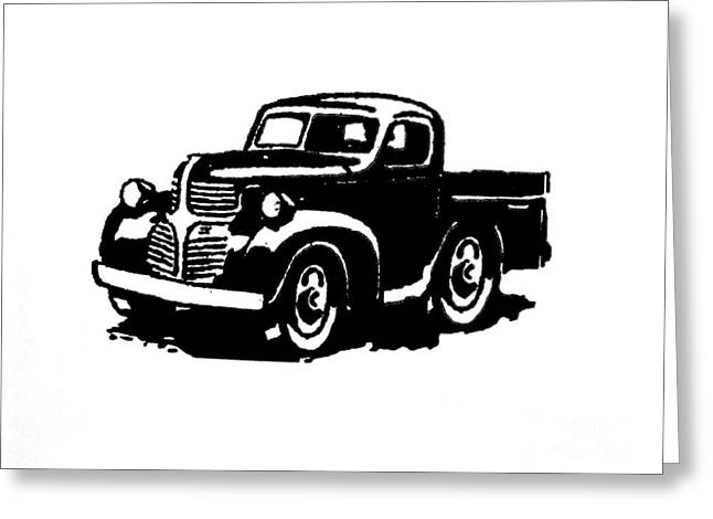 Sillouette Greeting Cards - Dodge Truckin Greeting Card by Marsha Heiken