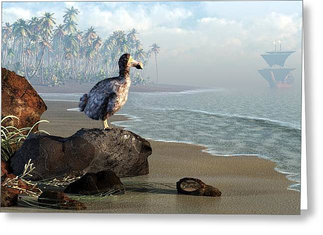 Doomed Greeting Cards - Dodo Afternoon Greeting Card by Daniel Eskridge
