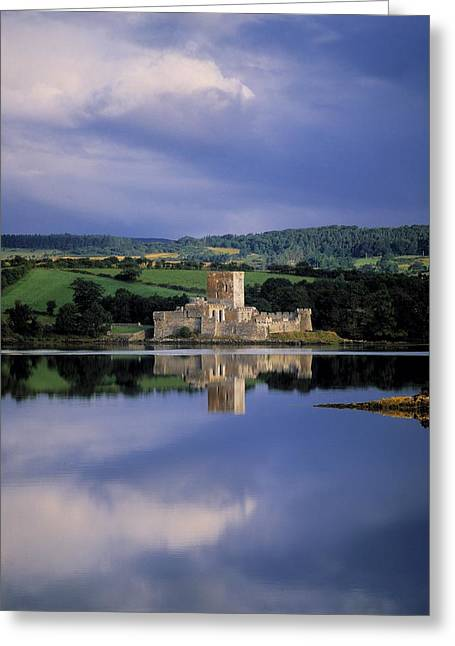 Owen County Greeting Cards - Doe Castle Near Creeslough In County Greeting Card by The Irish Image Collection