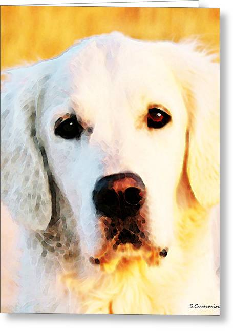 Golden Greeting Cards - Dog Art - Golden Moments Greeting Card by Sharon Cummings