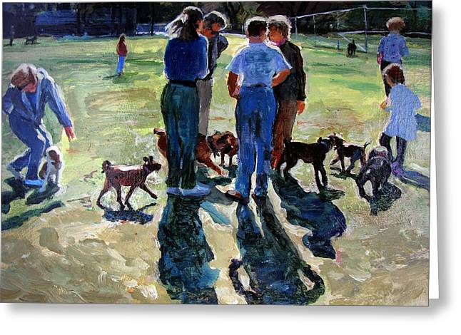 Neighborly Greeting Cards - Dog Convention Greeting Card by Michael Jacques