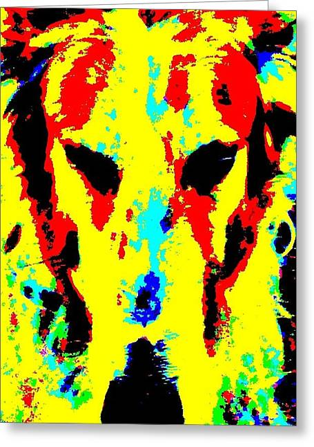 Dog Head Greeting Cards - Dog Gone Greeting Card by Randall Weidner