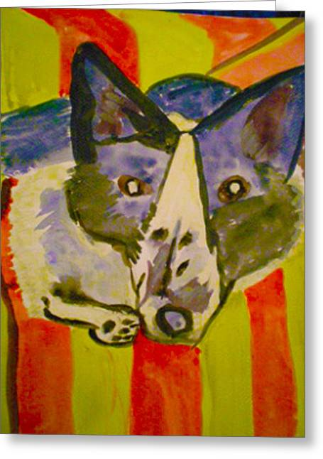 Dog On Couch Greeting Cards - Dog On Couch 2 Greeting Card by Zakai Ashkii