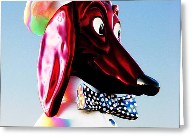 Doggie Diner Sign Greeting Card by Samuel Sheats