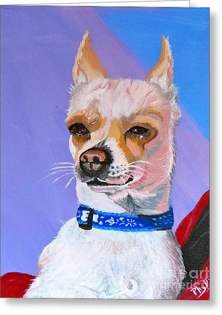 Doggie Know It All Greeting Card by Phyllis Kaltenbach