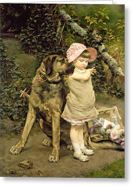 Companionship Greeting Cards - Dogs Company Greeting Card by Edgard Farasyn