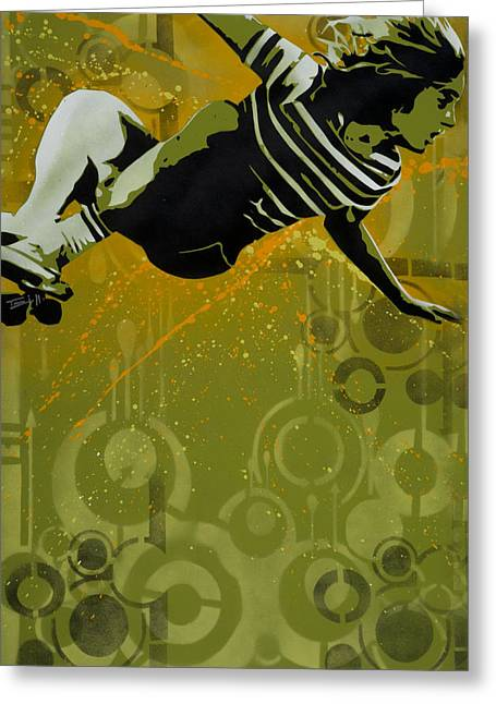 Aerosol Paintings Greeting Cards - Dogtown Greeting Card by Iosua Tai Taeoalii