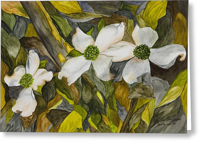 Dogwoods Greeting Card by Mary Ann King