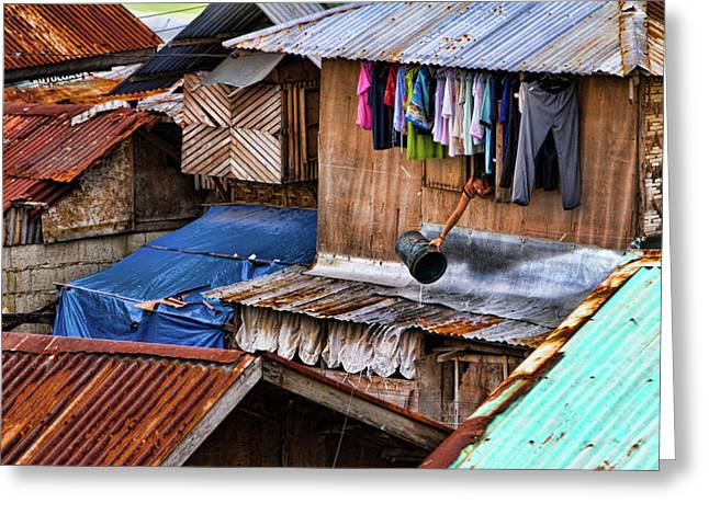 Striking Images Photographs Greeting Cards - Doing the laundry Greeting Card by James BO  Insogna
