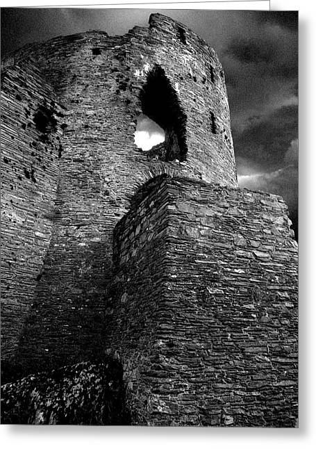 Princes Pyrography Greeting Cards - Dolbadarn castle Greeting Card by Duncan Rowe