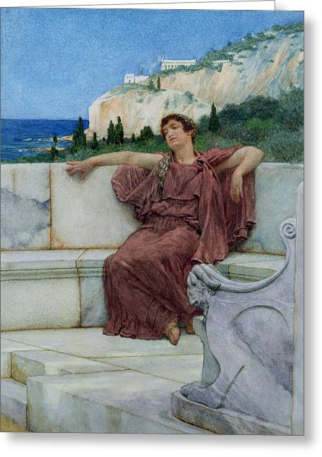 Ocean Shore Greeting Cards - Dolce Far Niente Greeting Card by Sir Lawrence Alma-Tadema