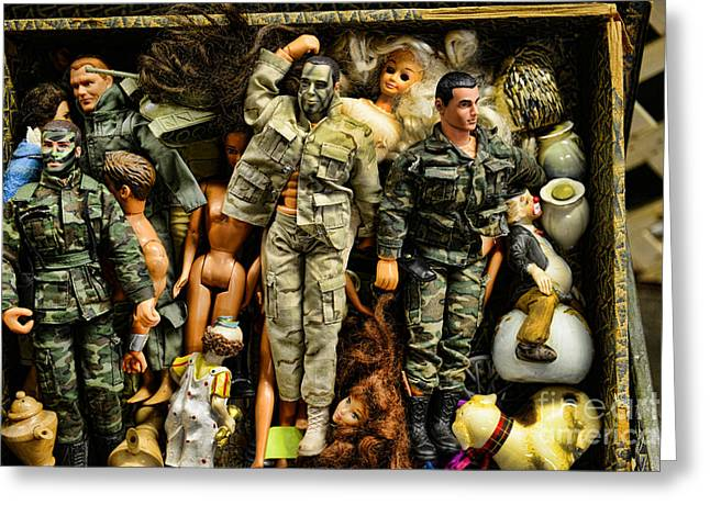 Gi Photographs Greeting Cards - Doll - GI Joe in Camo Greeting Card by Paul Ward
