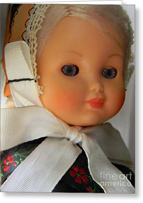 Doll Greeting Cards - Doll 32 Greeting Card by Anita V Bauer