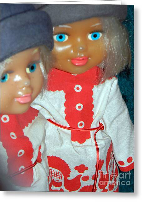 Doll Greeting Cards - Doll 4932 Greeting Card by Anita V Bauer