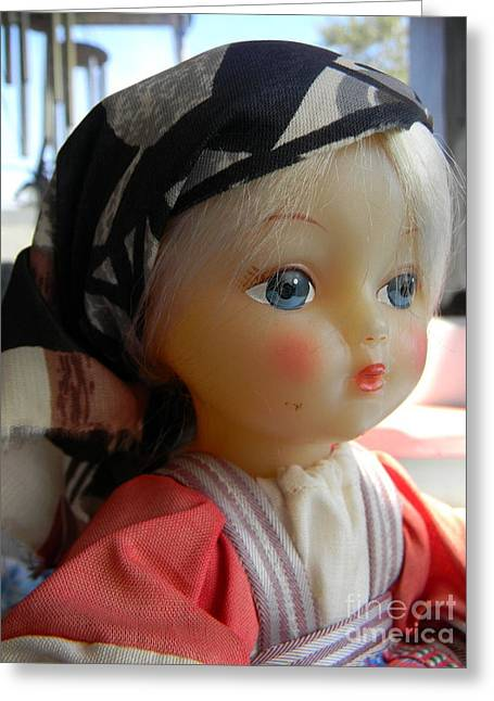 Doll Greeting Cards - Doll Greeting Card by Anita V Bauer