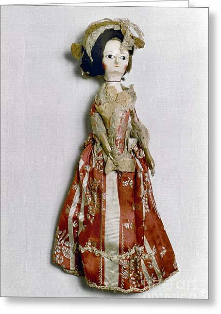 1770s Greeting Cards - DOLL, c1770 Greeting Card by Granger