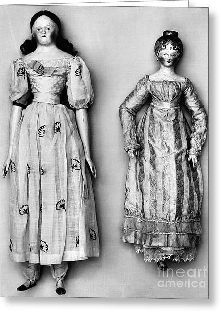 Textile Photographs Greeting Cards - DOLLS, 1790s Greeting Card by Granger