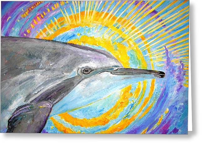 Best Sellers -  - Liberation Greeting Cards - Dolphin Ray Greeting Card by Tamara Tavernier
