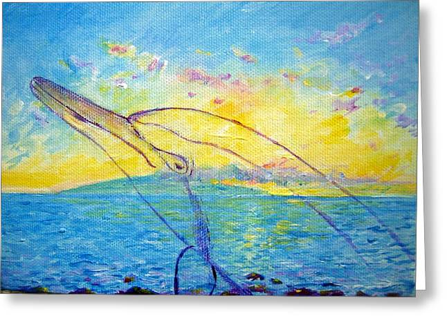 Empowerment Greeting Cards - Dolphin spirit Greeting Card by Tamara Tavernier