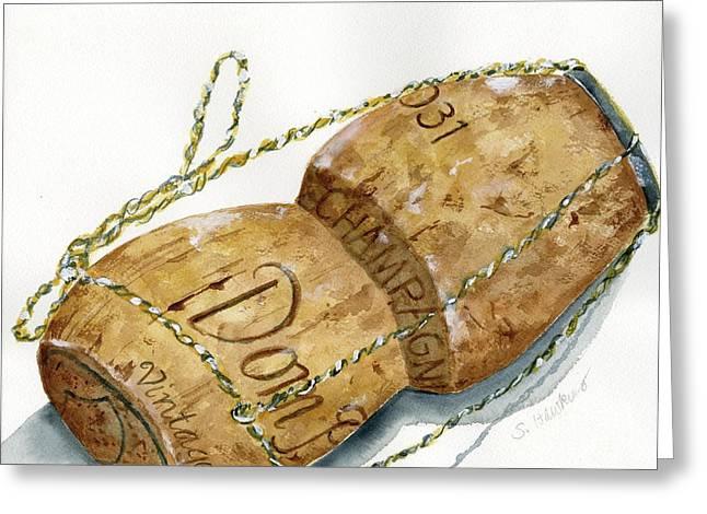 Mermaidspalette Greeting Cards - Dom Perignon Cork Greeting Card by Sheryl Heatherly Hawkins