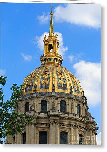 Invalides Greeting Cards - Dome Church Paris Greeting Card by Louise Heusinkveld