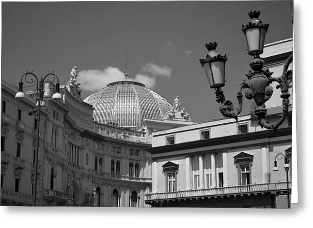 Umberto Greeting Cards - Dome Of Galleria Umberto 1 Greeting Card by Terence Davis