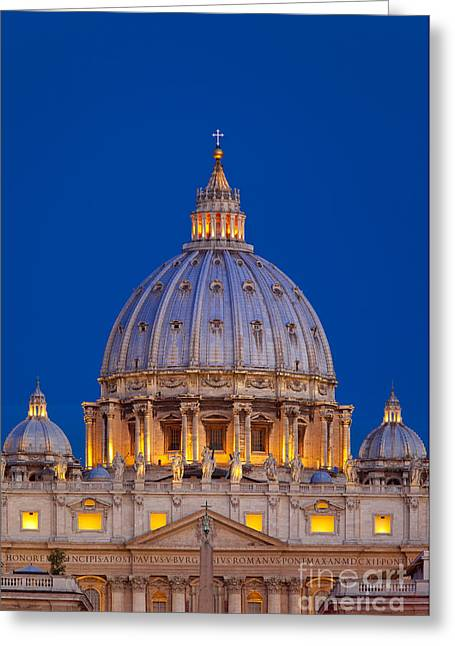 Michelangelo Greeting Cards - Dome San Pietro Greeting Card by Brian Jannsen