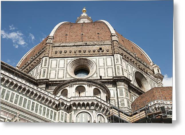 Religious Greeting Cards - Dome Santa Maria del Fiore in Florence Italy Greeting Card by Matthias Hauser