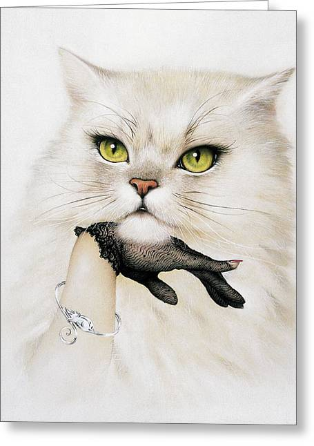 Petcare Greeting Cards - Domestic Cat, Conceptual Image Greeting Card by Smetek