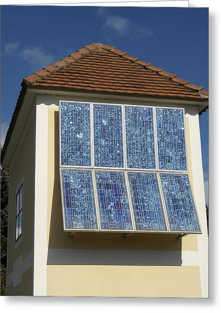 Best Sellers -  - Energy Conversion Greeting Cards - Domestic Solar Panel Greeting Card by Friedrich Saurer