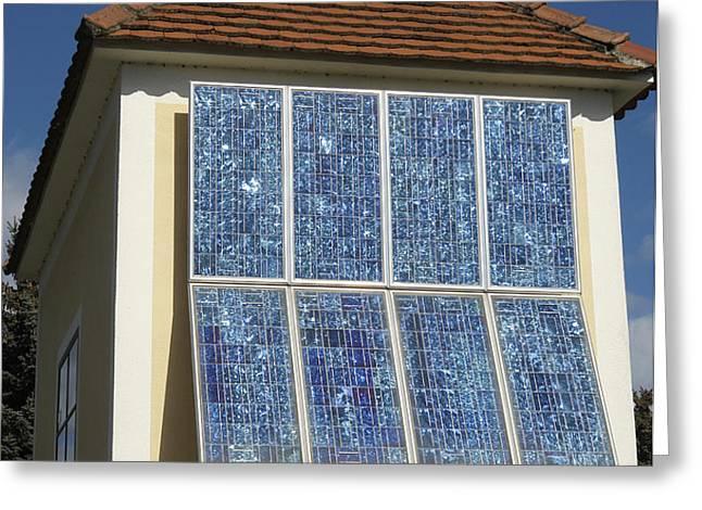 Domestic Solar Panel Greeting Card by Friedrich Saurer