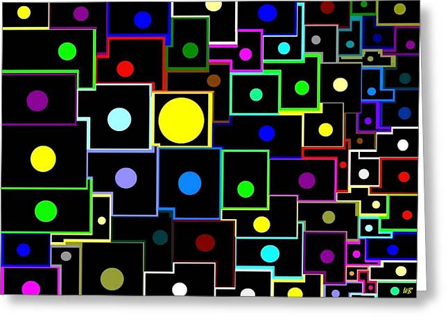 Geometric Effect Greeting Cards - Domino Effect  Greeting Card by Will Borden