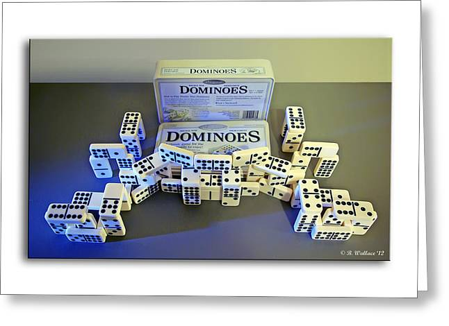Bone Pile Greeting Cards - Dominoes Greeting Card by Brian Wallace
