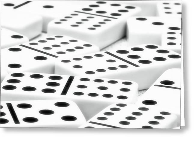 Board Game Greeting Cards - Dominoes II Greeting Card by Tom Mc Nemar