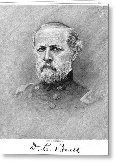Autograph Greeting Cards - Don Carlos Buell (1818-1898) Greeting Card by Granger