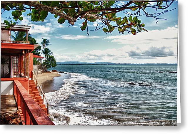 Rincon Digital Art Greeting Cards - Don Quijote Bed and Breakfast Rincon Puerto Rico Greeting Card by Frank Feliciano